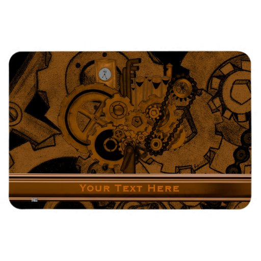 Steampunk Machinery (Copper) Rectangular Magnets