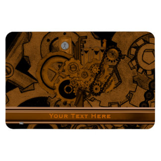 Steampunk Machinery (Copper) Rectangular Photo Magnet