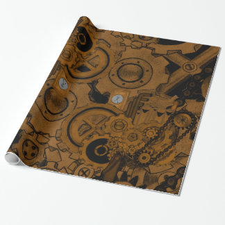 Steampunk Machinery (Copper) Wrapping Paper