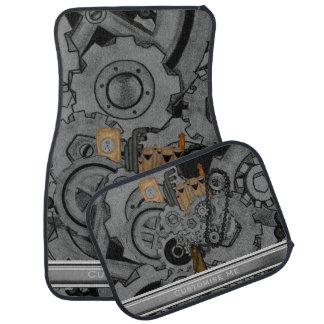 Steampunk Machinery (Full Colour) Floor Mat