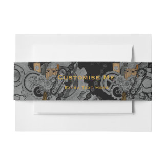 Steampunk Machinery (Full Colour) Invitation Belly Band