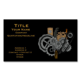 Steampunk Machinery (Full Colour) Magnetic Business Card