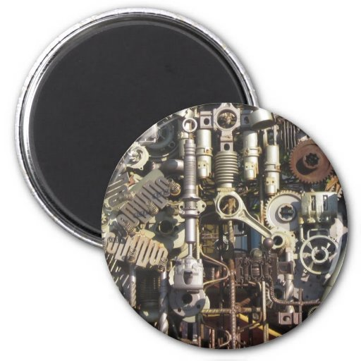 Steampunk machinery magnets