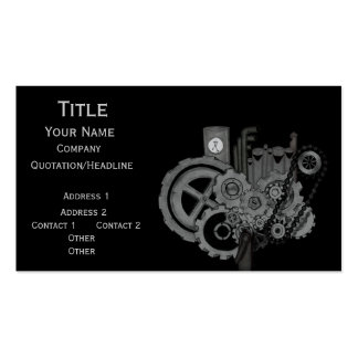 Steampunk Machinery (Monochrome) Pack Of Standard Business Cards