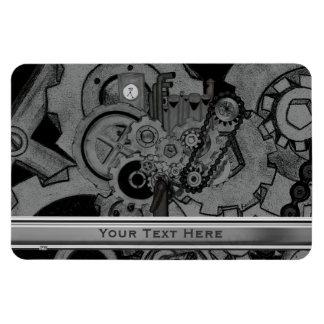 Steampunk Machinery (Monochrome) Rectangular Photo Magnet