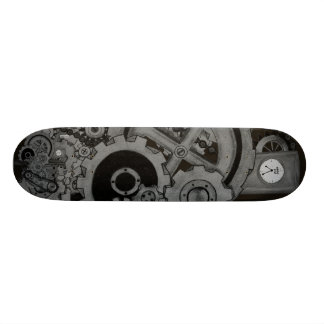 Steampunk Machinery (Monochrome) Skate Deck