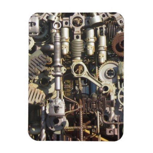 Steampunk machinery vinyl magnet