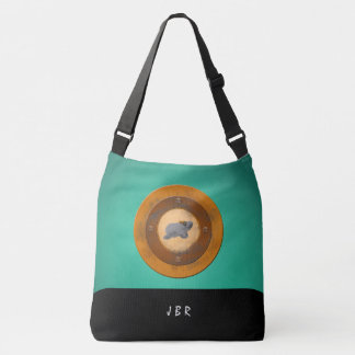 Steampunk Manatee Copper Teal Cross-body Tote Bag