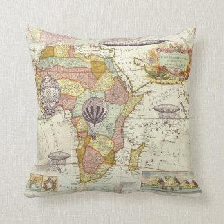 Steampunk Map pillow