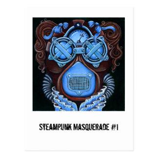 Steampunk Masquerade #1 Postcard