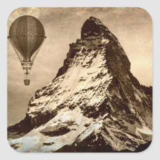 Steampunk Matterhorn Square Sticker