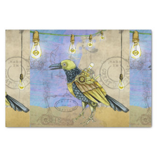 Steampunk Mechanical Bird Engineering Father's Day Tissue Paper