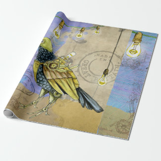 Steampunk Mechanical Bird Engineering Father's Day Wrapping Paper