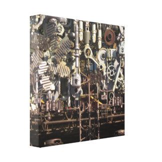 Steampunk mechanical machinery machines canvas print