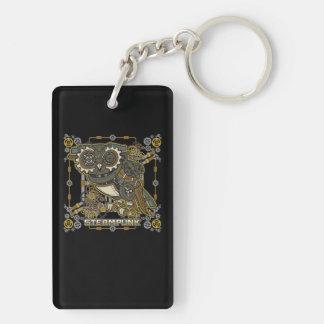 Steampunk Mechanical Owl Key Ring