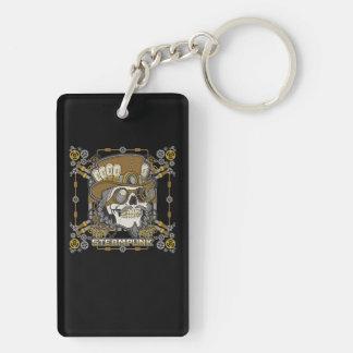 Steampunk Mechanical Skull Key Ring