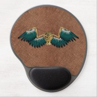 Steampunk Mechanical Wings Brown Gel Mouse Pad