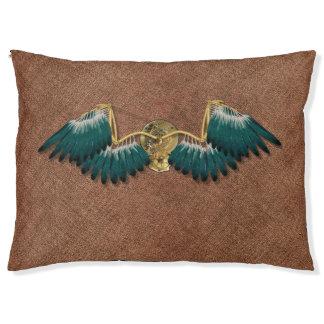 Steampunk Mechanical Wings Brown Pet Bed
