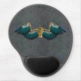 Steampunk Mechanical Wings Grey Gel Mouse Pad