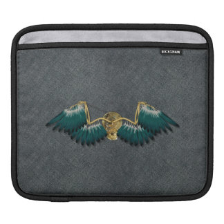 Steampunk Mechanical Wings Grey iPad Sleeve
