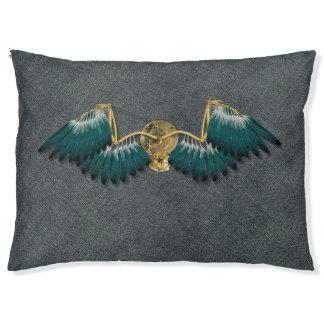 Steampunk Mechanical Wings Grey Pet Bed