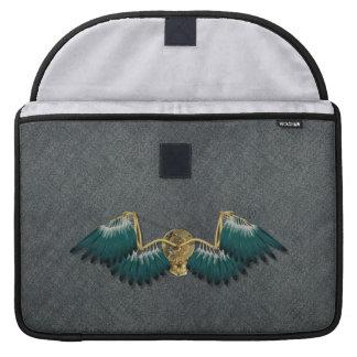 Steampunk Mechanical Wings Grey Sleeve For MacBook Pro