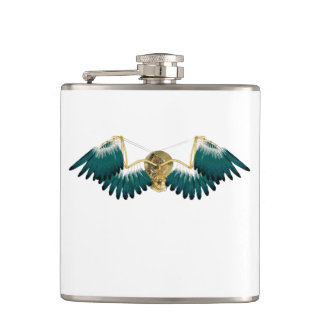 Steampunk Mechanical Wings Hip Flask
