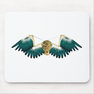 Steampunk Mechanical Wings Mouse Pad