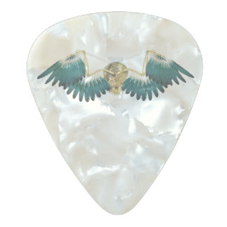 Steampunk Mechanical Wings Pearl Celluloid Guitar Pick
