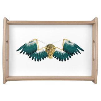 Steampunk Mechanical Wings Serving Tray