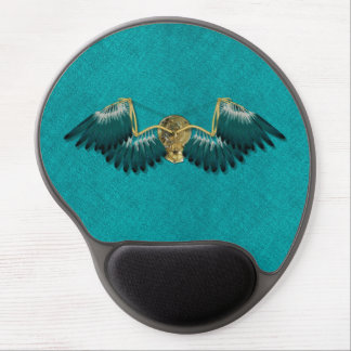 Steampunk Mechanical Wings Teal Gel Mouse Pad