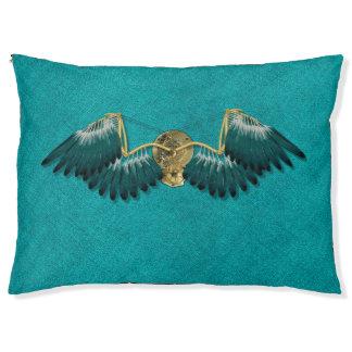 Steampunk Mechanical Wings Teal Pet Bed