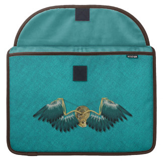 Steampunk Mechanical Wings Teal Sleeve For MacBooks