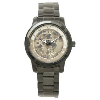 Steampunk Metal Clock Gears Abstract Watch