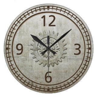 Steampunk Metal Wall Clock