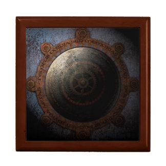 Steampunk Moon Clock Time Metal Gears Gift Box