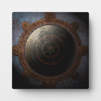 Steampunk Moon Clock Time Metal Gears Plaque