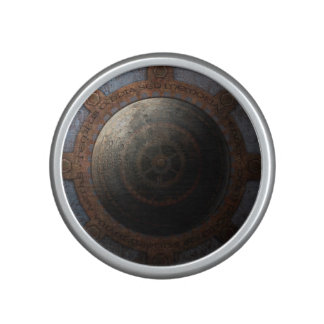 Steampunk Moon Clock Time Metal Gears Speaker