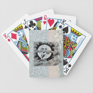 Steampunk Moon Drinking Champagne Clouds Poker Deck