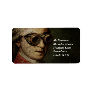 Steampunk Mozart Label
