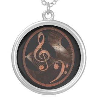 Steampunk Music Design Necklace