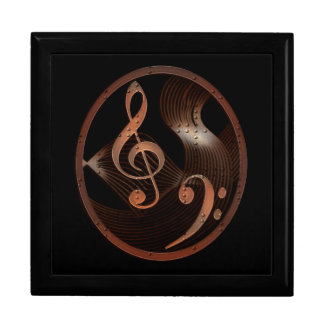 Steampunk Music wooden keepsake jewelry gift box