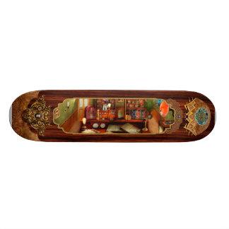 Steampunk - My busy study Skateboard Deck