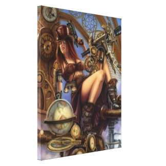 Steampunk Navigator Wrapped Canvas Stretched Canvas Print