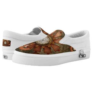 Steampunk, noble design slip on shoes