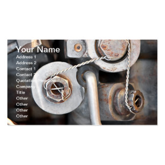 Steampunk nuts and bolts with wire pack of standard business cards
