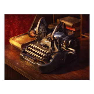 Steampunk - Oliver's typing machine 21.5 Cm X 28 Cm Flyer