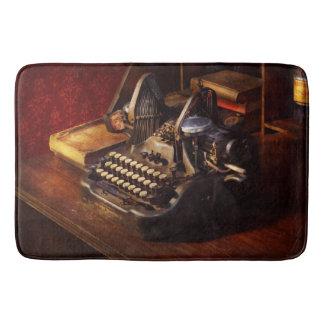 Steampunk - Oliver's typing machine Bath Mat