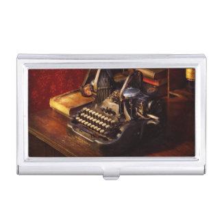 Steampunk - Oliver's typing machine Business Card Holder