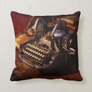 Steampunk - Oliver's typing machine Cushion